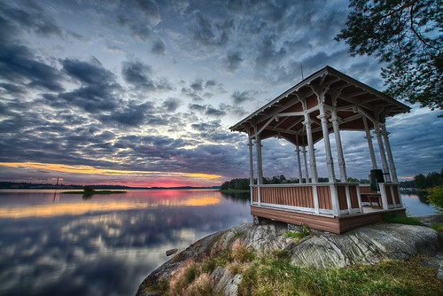 lake clouds sunrise finland landscape fi hdr kuopio