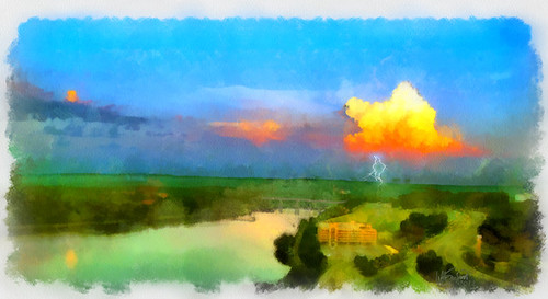 sunset summer painterly art water weather digital photoshop canon painting studio photography photo scenic newengland photograph sargent coldbrook coldbrookstudio