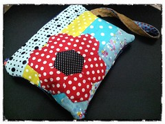 Hexies Flower pouch