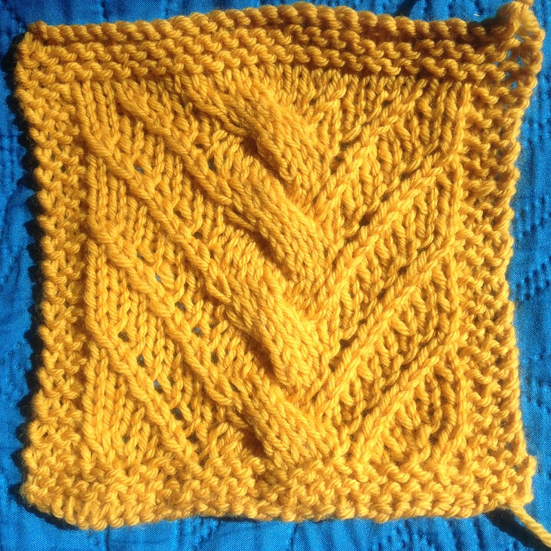Lacy Twist Stitch Pattern.
