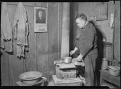 Scott's Run, West Virginia. Unemployed bachelor, Jere, March 1937
