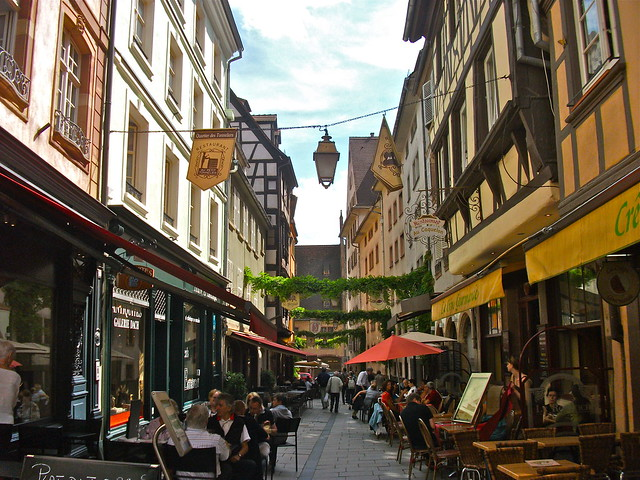 French Cafes in Strasbourg, France