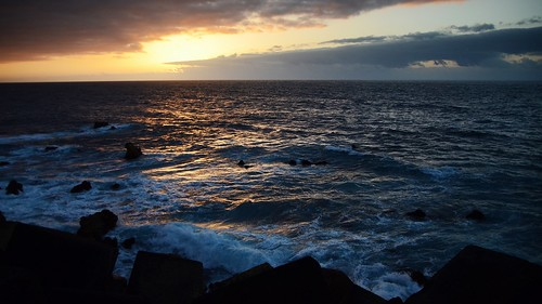 sunset sea spain tenerife 海 canaryislands 日落 puertodelacruz 西班牙 加纳利群岛