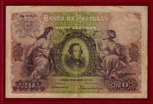 20 escudos note