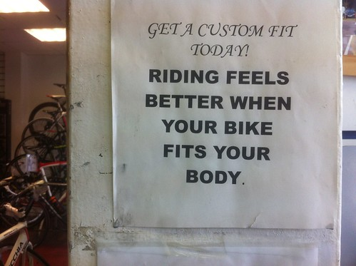 Riding feel better when your bike fits your body