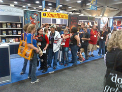 Line for The Other Normals ARC Giveaway, Comic-Con 2012
