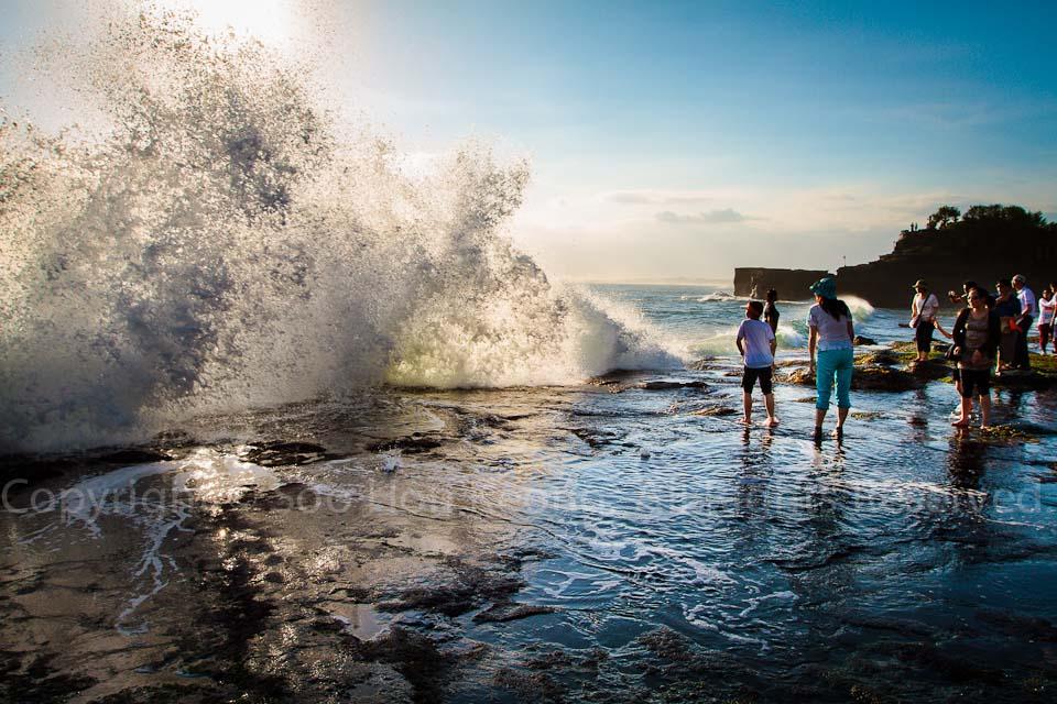 Splash @ Tanah Lot, Bali, Indonesia