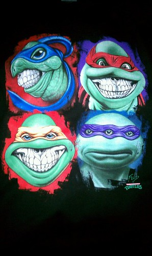 "FLüD ""TEENAGE MUTANT NINJA TURTLES - GRINS""; Images from the SDCC exclusive RON ENGLISH  FLüD T-shirt designs (( 2012 )) [[ Courtesy of Our Favorite Artists ]]"