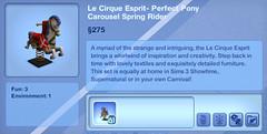 Le Cirque Esprit- Perfect Pony Carousel Spring Rider