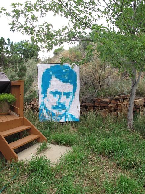Ron Swanson quilt