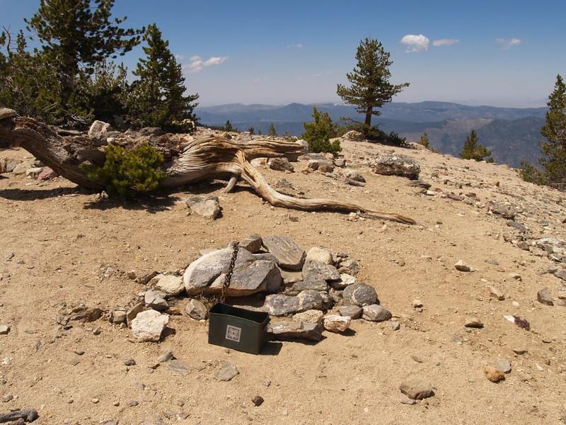 Charlton Peak Summit and register box