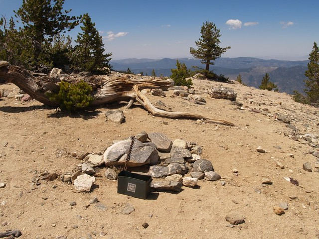 Charlton Peak Summit and register box