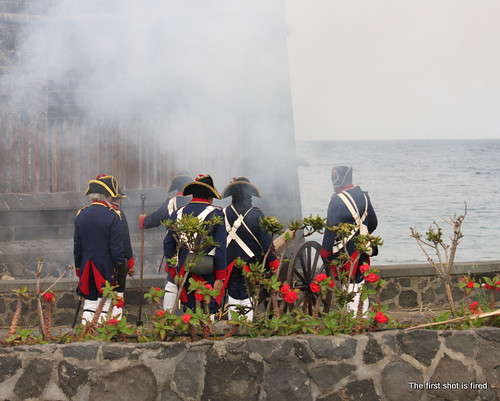 Re-enactment of Nelson's defeat on Tenerife