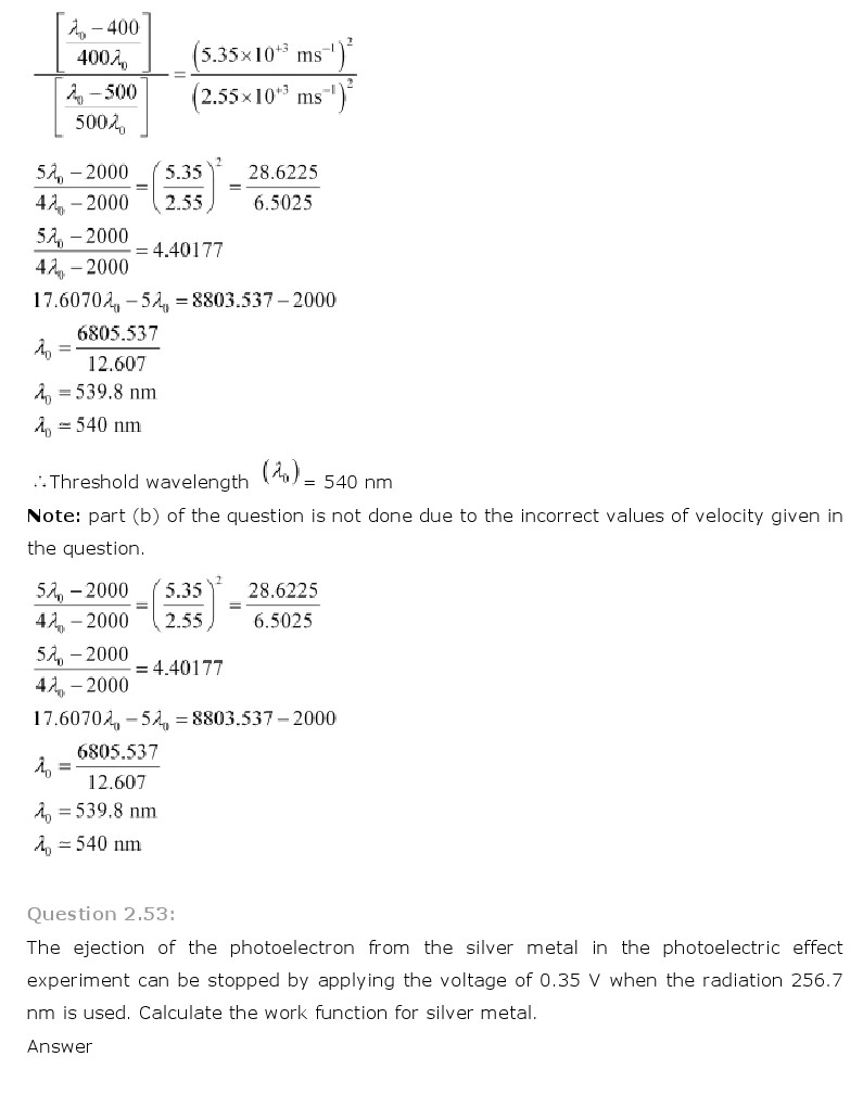 NCERT Solutions for Class 11 Chemistry Chapter 2 - Structure of Atom