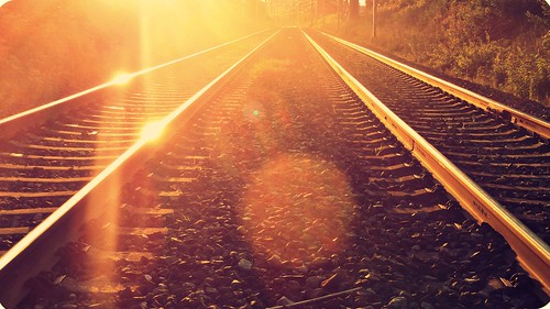 sunset summer nature sunshine train happy glow flare cliché hcs