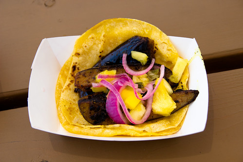 Curried Eggplant Taco by Pgh Taco Truck