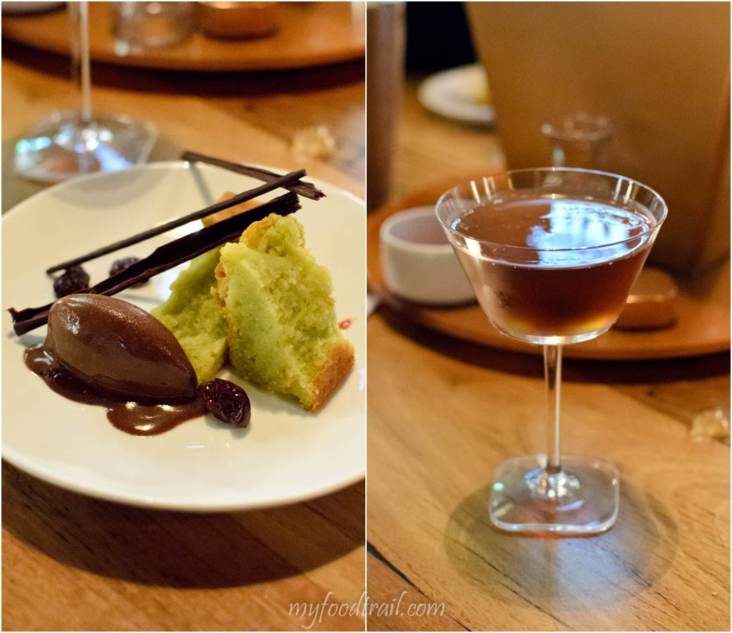 Absolut Elyx Launch - Absolut Elyx 1929 with Pistachio, dark chocolate sorbet, dried cherries