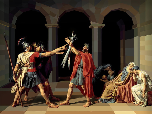 Jacques-Louis David - Oath of the Horatii | Flickr - Photo ... Oath Of The Horatii
