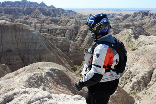 Dachary checking out the Badlands