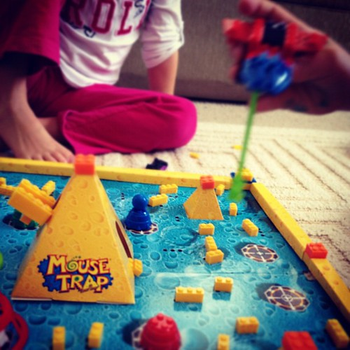 An afternoon of Mouse Trap ;) love days like this