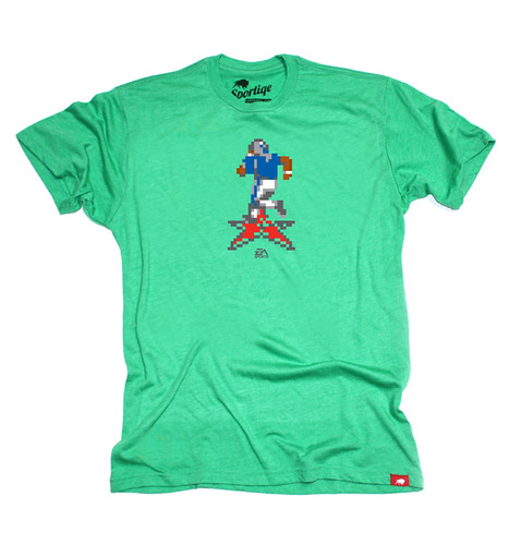 EA SPORTS Green 16 Bit Football T-Shirt By Sportiqe