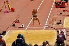 sprint(0.0), pole vault(0.0), high jump(0.0), athletics(1.0), track and field athletics(1.0), jumping(1.0), sport venue(1.0), sports(1.0), long jump(1.0), athlete(1.0),