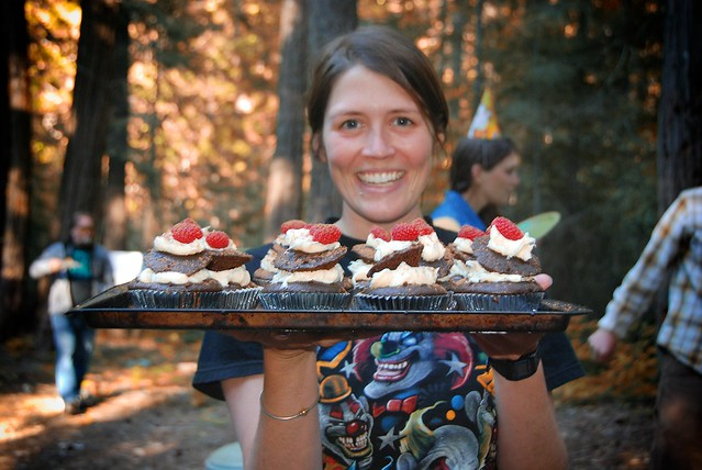The one and only field biologist & gourmet chef, Amanda Gallinat.  There are no words that describe the amazingness of those cupcakes.