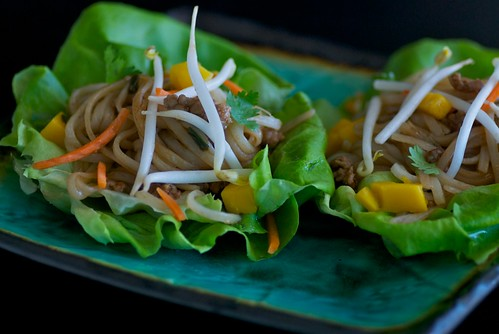 Asian pork lettuce cups