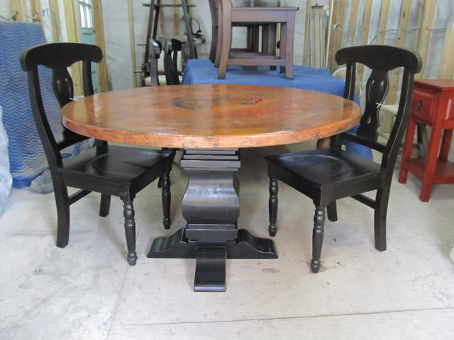 round copper dining table best dining table ideas