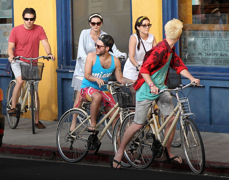 3 katy perry rides a bike