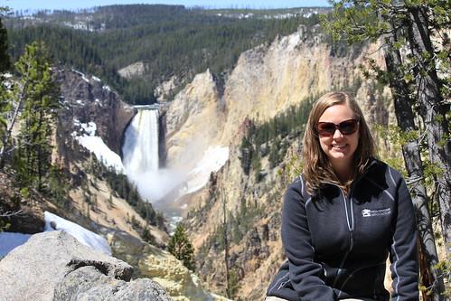 Laura at Grand Canyon of Yellowstone