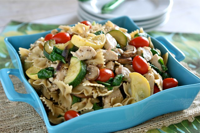 Sauteed Vegetable and Chicken Pasta 002