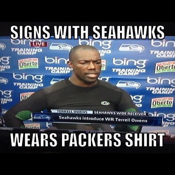 funny to terrellowens packers seattle seahawks