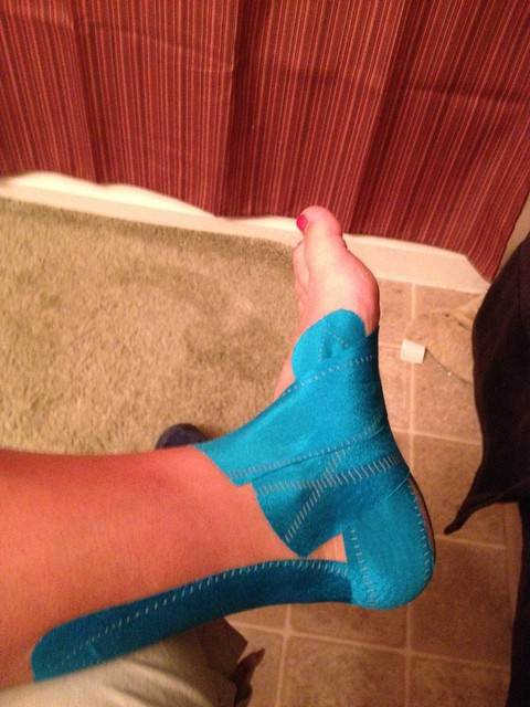 how to tape an ankle for dance