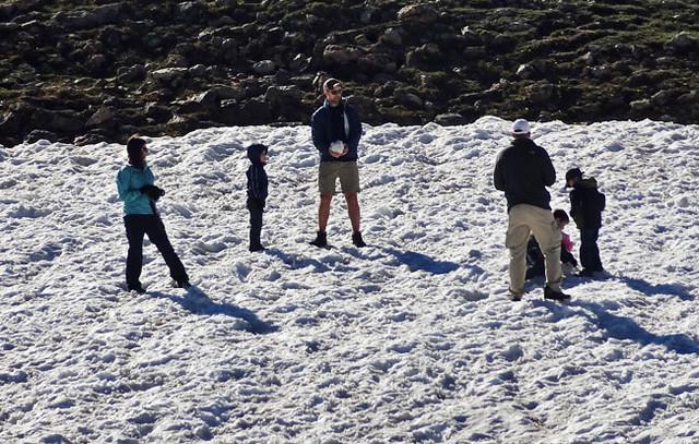 rockies-snowball-fight