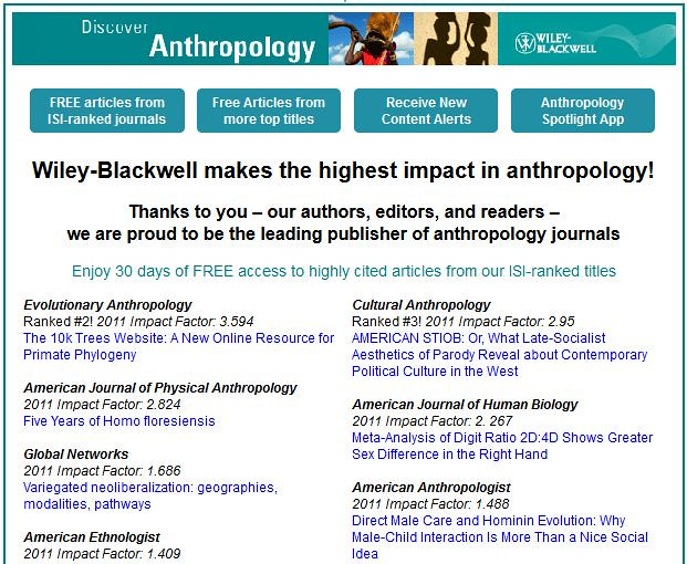 papers on anthropology journal Anthropology discusses the latest research innovations and important developments in this field.