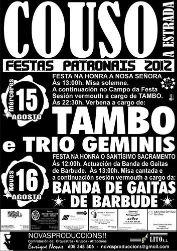 A Estrada 2012 - Festas patronais en Couso - cartel