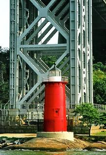 Der wohl kleinste Leuchtturm der Welt im Hudson River bei NY