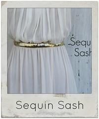 how to make a sequin sash