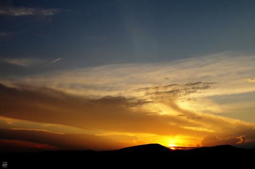 blue light sunset sky sun mountains color set clouds virginia airport dusk magic ridge roanoke va appalachians