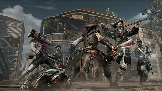Assassin's Creed III : Liberation - Combats contre plusieurs ennemis