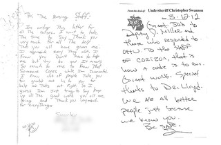 Genesee County Corizon employees receive letters of thanks from inmate patient