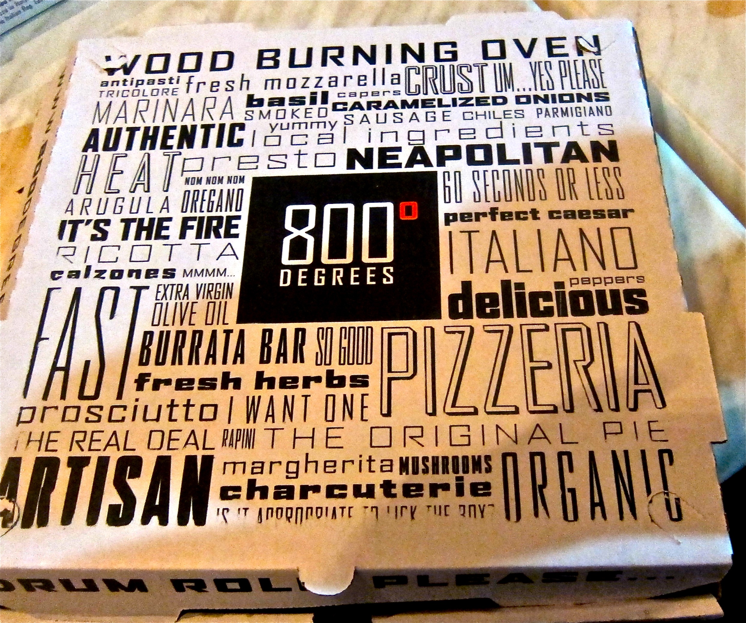 800 degrees box