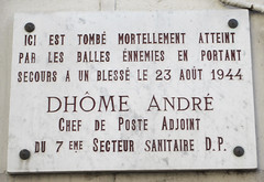 Photo of André Dhǒme marble plaque