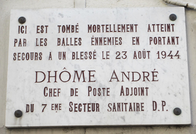 Photo of André Dhôme marble plaque