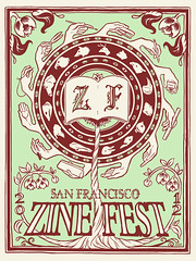 San Francisco Zine Fest silkscreened print