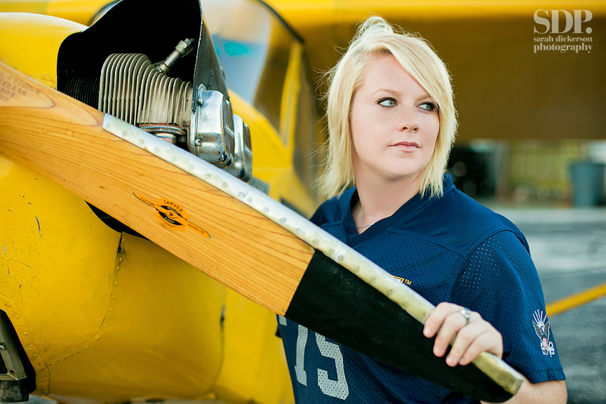 Aviation themed senior portraits