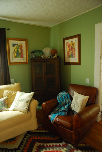 Living Room- was green