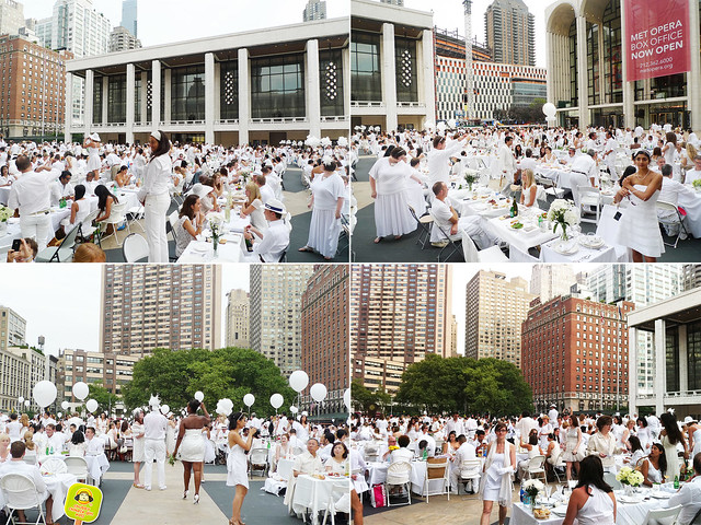 diner en blanc NYC 2012 lincoln center converted to white