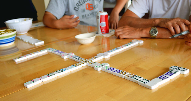 Epic game of dominoes
